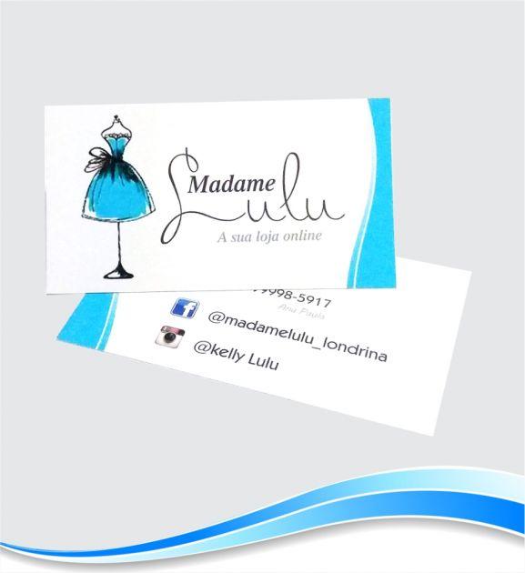 Cartão de Visita Colorido com Brilho